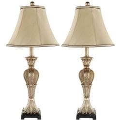 Safavieh Indoor Lorax Gold Silk 1-light Table Lamps (Set of 2)
