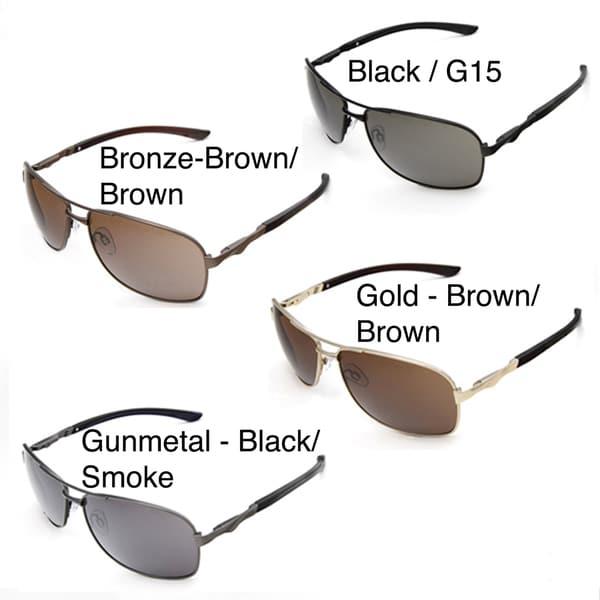 Hot Optix Large Men's Square Aviator Sunglasses