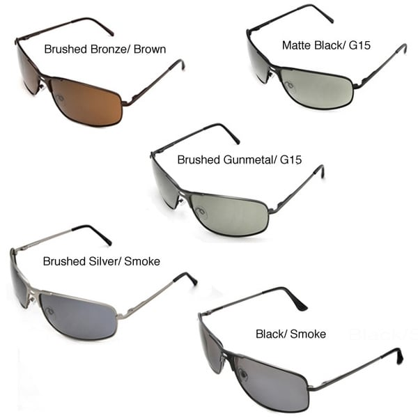 Hot Optix Men's Metal-Framed Polarized Sport Sunglasses