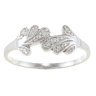 Sterling Silver 1/10ct TDW Diamond Bypass-style Ring (G-H, I2)