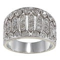 Sterling Silver 3/4ct TDW Diamond Vintage-style Ring (G-H, I2)