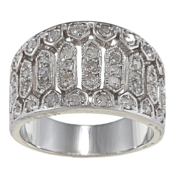 Sterling Silver 3/4ct TDW Diamond Vintage Ring (G-H, I2)