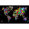 Maxwell Dickson 'World of Colors' Modern Canvas Art Print