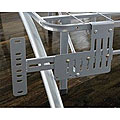 Arch Flex Brushed Silver Headboard/ Footboard Brackets