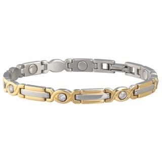 Sabona Lady Executive Two-Tone Gem Magnetic Bracelet