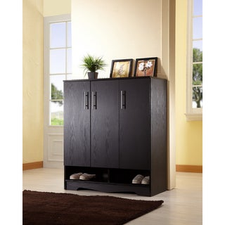 Furniture of America Maxwell Black Seven-shelf Cabinet