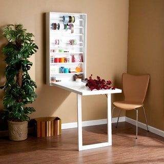 White Murphy Wall-mount Scrapbook Organizer Craft Desk Work Table