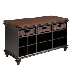 Kelly Black Entryway Bench