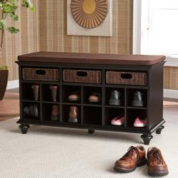 Upton Home Kelly Black Entryway Bench