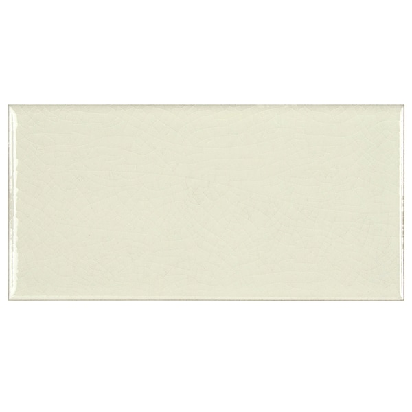 Somertile 3 x 6-inch Cream Ceramic Wall Tile (Case of 64)