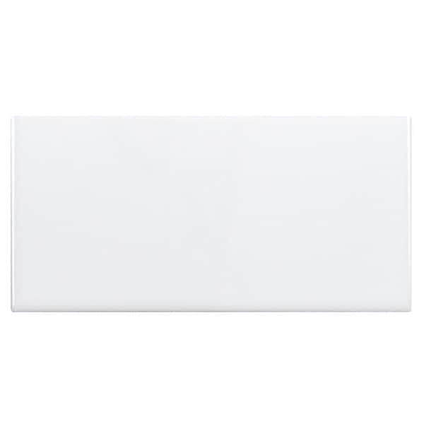 SomerTile 3x5.875-inch Travessa Lisa Blanco Ceramic Wall Tiles (Case of 64)