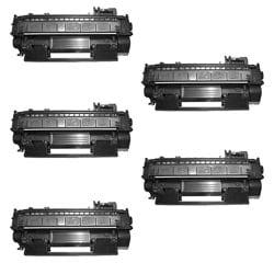 Hewlett Packard CE505A Black Toner Cartridges (Pack of 5) (Remanufactured)
