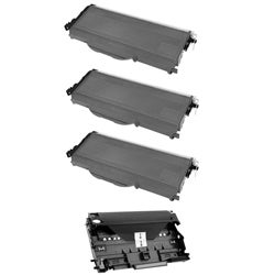 Brother TN360 Compatible Black Toner Cartridges and 1 DR360 Drum Unit (Pack of 4)