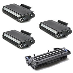Brother TN580 Compatible Black Toner Cartridges and 1 DR510 Drum Unit (Pack of 4)