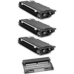 Brother TN350 Compatible Black Toner Cartridges and 1 DR350 Drum Unit (Pack of 4)