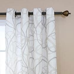 Tribal Print Faux Linen Grommet 84inch Curtain Pair