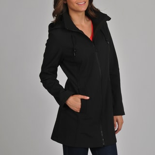 London Fog Women's Black Soft Shell Active Jacket
