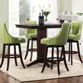 Tribecca Home Vella Green Swivel Upholstered 5-Piece Pub-height Set