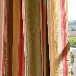 Exclusive Fabrics Signature Stripe Mirage Faux Silk Taffeta Curtain Panel