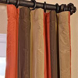 Signature Stripe Burma Faux Silk Taffeta Curtain Panel