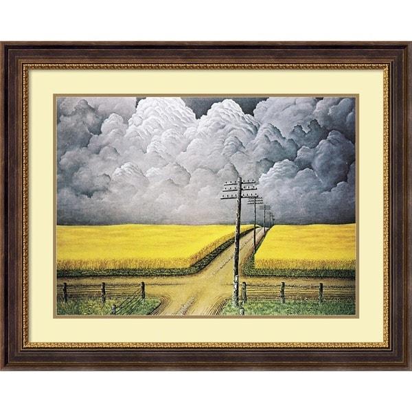 John Rogers Cox 'Gray and Gold, 1942' Framed Art Print