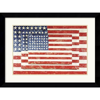 Jasper Johns 'Three Flags' Framed Art Print