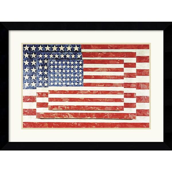 Jasper Johns 'Three Flags' Framed Art Print