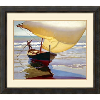 Arthur Grover Rider 'Fishing Boat, Spain' Framed Art Print