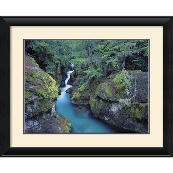 William Neill 'Mountain Forest Cascade' Framed Art Print