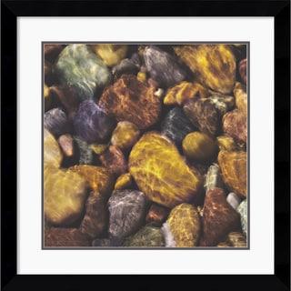 Will Connor 'River Rocks' Framed Art Print