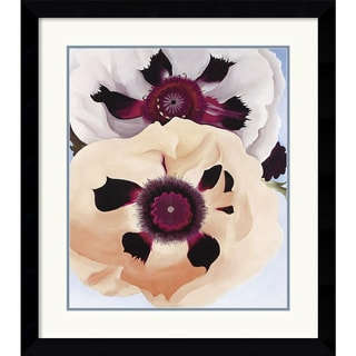 Georgia O'Keeffe 'Poppies, 1950' Framed Art Print