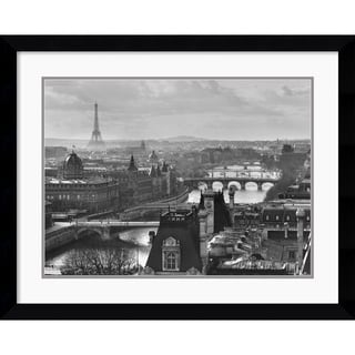 Peter Turnley 'River Seine and the City of Paris' Framed Art Print