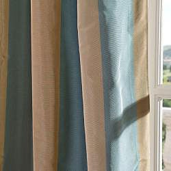 EFF Signature Stripe Marin Faux Silk Taffeta Curtain Panel
