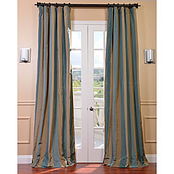 Signature Stripe Marin Faux Silk Taffeta Curtain Panel