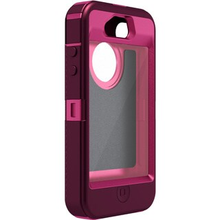 OtterBox Defender Carrying Case (Holster) for iPhone - Deep Plum, Peo