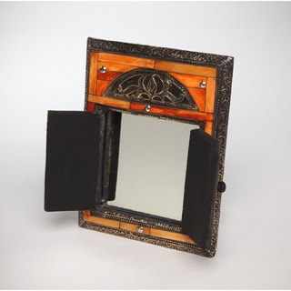 Hand-Carved Mirror with Doors (Morocco)