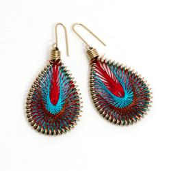 Multicolored Silk Thread Earrings (India)