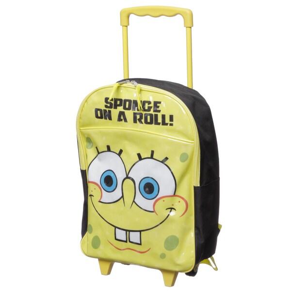 Nickelodeon SB21636-SC-YE SpongeBob 'On a Roll' Kids Rolling Backpack