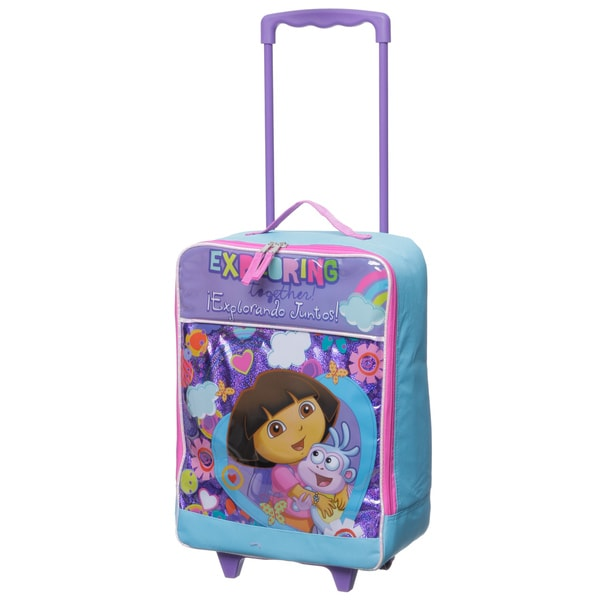 Nickelodeon 'Dora' Kids Rolling Carry-on Upright