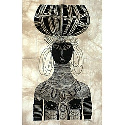 'Turkana Bride' Heidi Lange Screen Print (Kenya)
