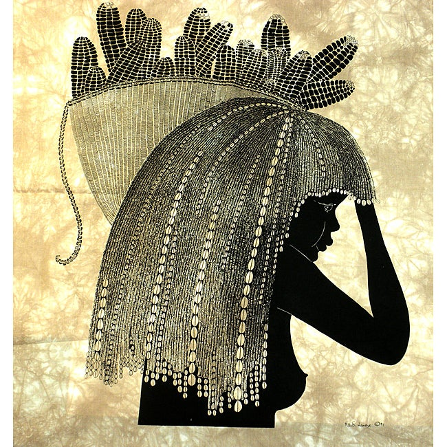 Girl from the Shamba' Heidi Lange Screen Print , Handmade in Kenya