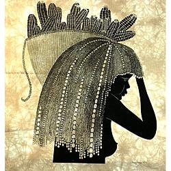 Girl from the Shamba' Heidi Lange Screen Print , Handmade in Kenya