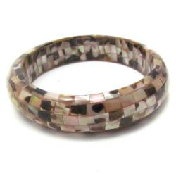 Inlaid Serene Natural Brown Lip Shell Bracelet (Philippines)
