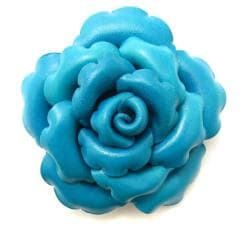 Precious Blue Rose Leather 2-in-1 Floral Pin/ Hairclip (Thailand)