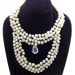 Double Freshwater White Pearl Layer Necklace (Thailand)