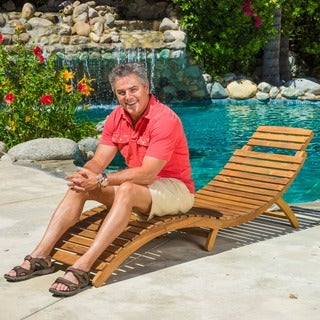 Christopher Knight Home Lahaina Wood Outdoor Chaise Lounge
