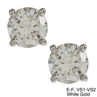 Auriya  14K Gold 1/2ct TDW Round Diamond Stud Earrings (E-F/H-I, VS1-VS2)