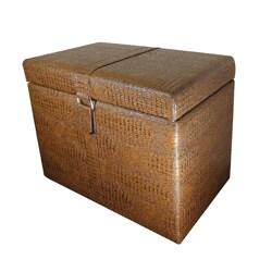 Rai Brown Storage Ottoman