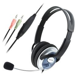 BasAcc Black VOIP/SKYPE Headset with Microphone and 78-inch Cable