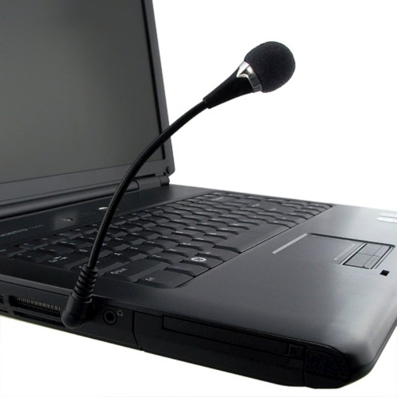 INSTEN Black VOIP/ SKYPE Mini Flexible Microphone with 5.75-inch Cable